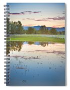 Country Sunset Reflections Spiral Notebook