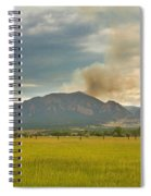 Country View Of The Flagstaff Fire Spiral Notebook