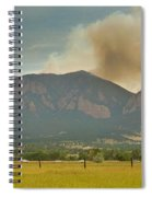 Country View Of The Flagstaff Fire Panorama Spiral Notebook