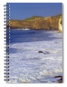 County Antrim, Ireland Seascape With Spiral Notebook