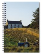 County Cork, Ireland Farmer On Tractor Spiral Notebook