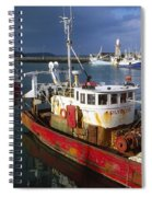 County Waterford, Ireland Fishing Boats Spiral Notebook