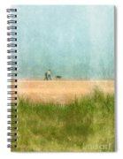 Couple On Beach With Dog Spiral Notebook