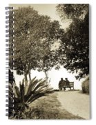 Couple On The Bench In Venice Spiral Notebook