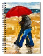 Couple Under A Red Umbrella Spiral Notebook