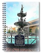 Court Square Fountain Spiral Notebook