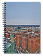 Courthouse And Statler Towers Winter Spiral Notebook