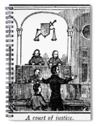 Courtroom, 1842 Spiral Notebook