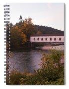 Covered Bridge At Dawn No. 1 Spiral Notebook
