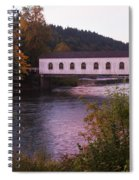 Covered Bridge At Dawn No. 2 Spiral Notebook