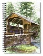 Covered Bridge At Knoebels  Spiral Notebook