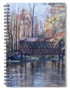 Covered Bridge At Lake Roaming Rock Spiral Notebook