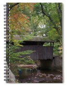 Covered Bridge By The Cottage  Spiral Notebook