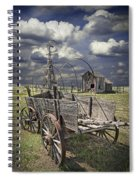 Covered Wagon And Farm In 1880 Town Spiral Notebook