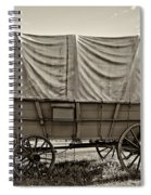 Covered Wagon Sepia Spiral Notebook