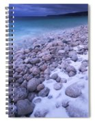Covered With Snow Pebbled Shore Of Georgian Bay Spiral Notebook