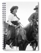 Cowboy And Cowgirl, C1908 Spiral Notebook