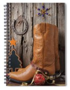 Cowboy Boots And Christmas Ornaments Spiral Notebook