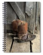 Cowboy Boots With Spurs Spiral Notebook