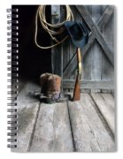 Cowboy Hat Boots Lasso And Rifle Spiral Notebook