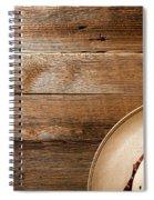 Cowboy Hat On Wood Spiral Notebook