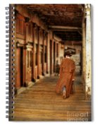 Cowboy In Old West Town Spiral Notebook