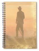Cowboy On The Hill Spiral Notebook