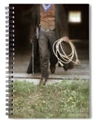 Cowboy With Guns And Rope Spiral Notebook