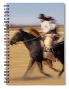 Cowboys Racing Horses Spiral Notebook
