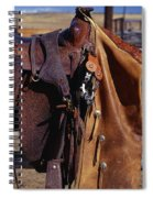 Cowboys Saddle And Chaps Detail Spiral Notebook