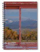 Cows Life Colorado Autumn Rocky Mountains Picture Window Art Spiral Notebook