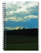 Cows On The Hill Spiral Notebook