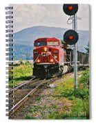 Cp Coal Train And Signal Spiral Notebook