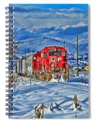 Cp Rail Train In Winter Hdr Spiral Notebook