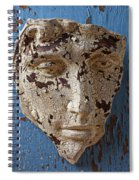Cracked Face On Blue Wall Spiral Notebook