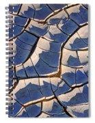 Cracked Mud At Sunset Near Great Salt Lake Spiral Notebook