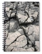 Cracked Rocks On Shore Spiral Notebook