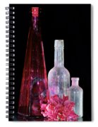 Cranberry And White Bottles Spiral Notebook