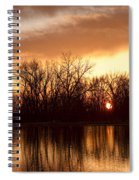 Crane Hollow Sunrise Before The Storm Spiral Notebook