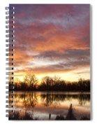 Crane Hollow Sunrise Reflections Spiral Notebook