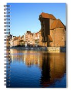 Crane In The Old Town Of Gdansk Spiral Notebook