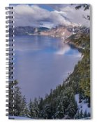 Crater Lake And Approaching Clouds Spiral Notebook