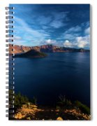 Crater Lake Minus Trees Spiral Notebook