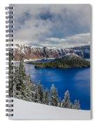 Crater Lake Panorama 1 Spiral Notebook
