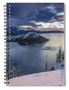 Crater Lake Snow Sunrise Spiral Notebook