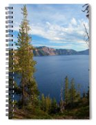 Crater Lake Through The Trees Spiral Notebook