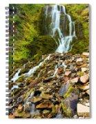 Crater Lake Waterfall Spiral Notebook