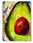 Crazy Avocado 2 - Modern Art Spiral Notebook