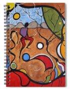 Crazy Rain Dance Spiral Notebook