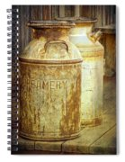 Creamery Cans In 1880 Town No 3098 Spiral Notebook